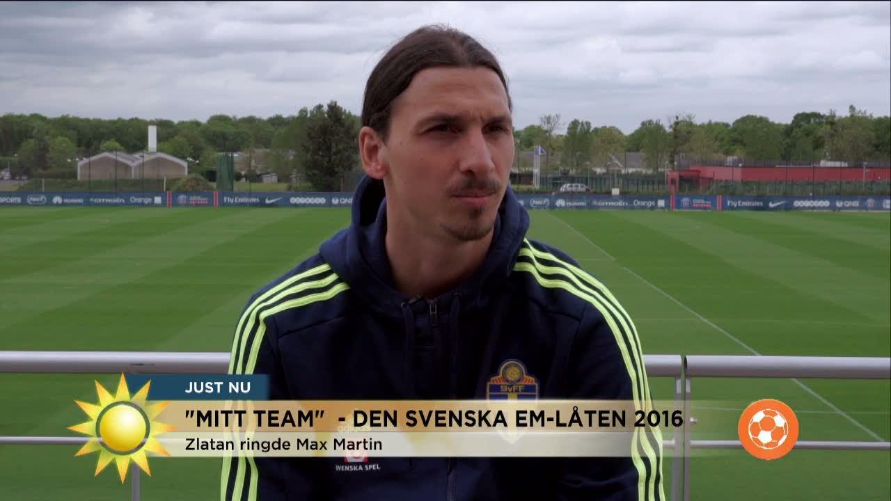 TV  Zlatan om EM-låten