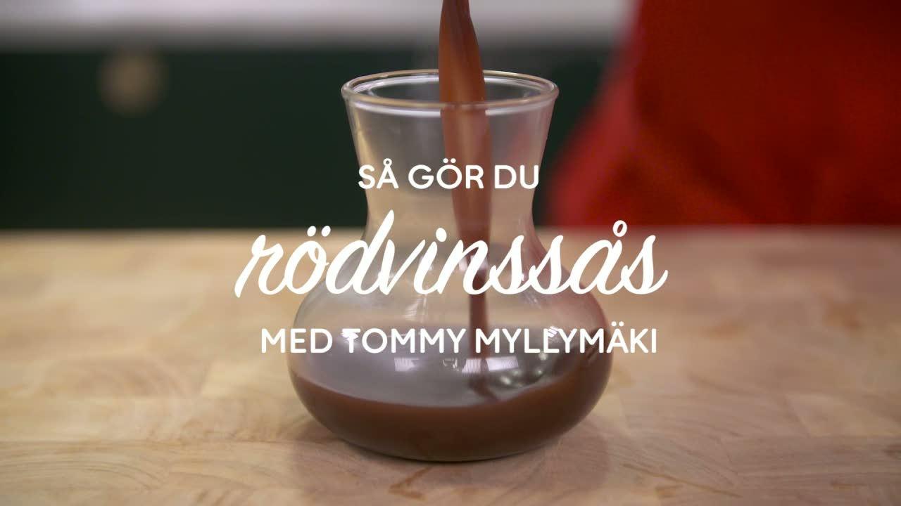 Se & gör: Tommy Myllymäkis rödvinssås