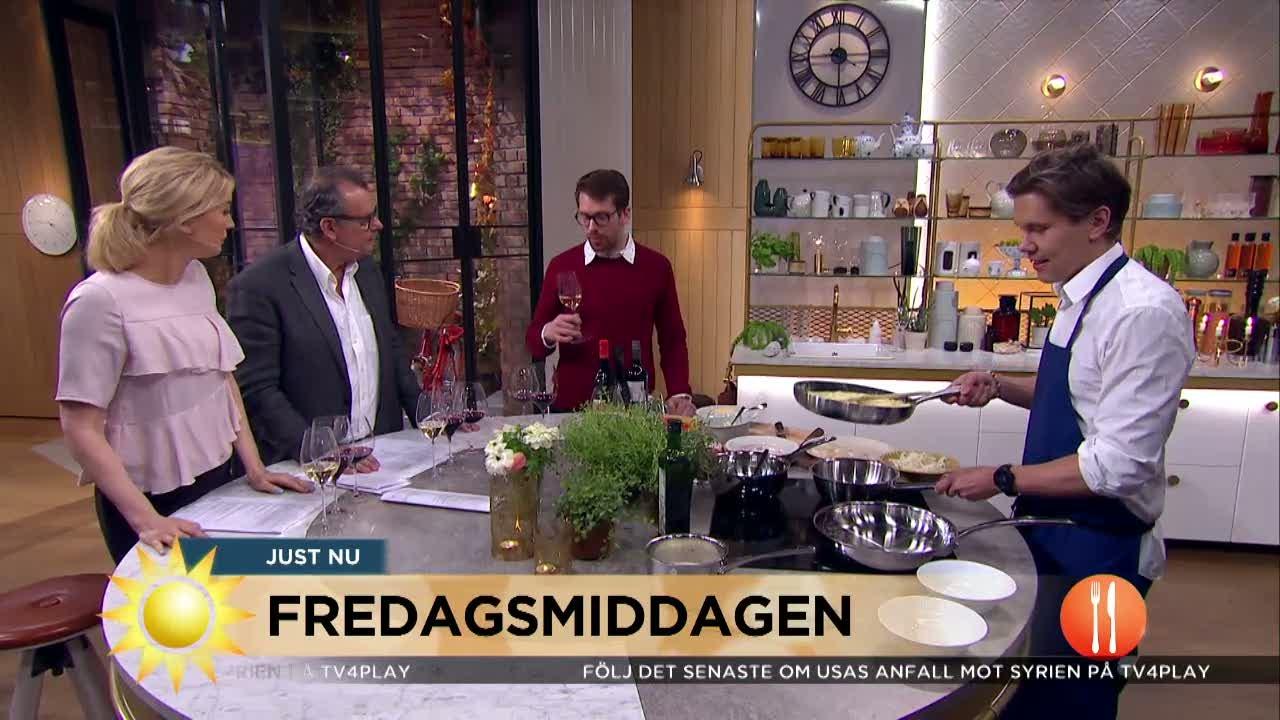 Tommy Myllymäki lagar mat med vinet i fokus