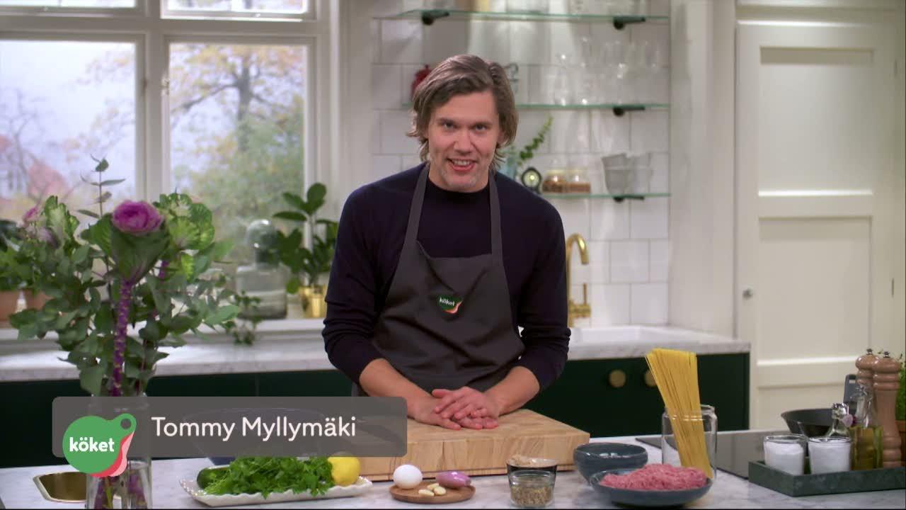 Kökets middag: Kycklingköttbullar med zucchini och citron