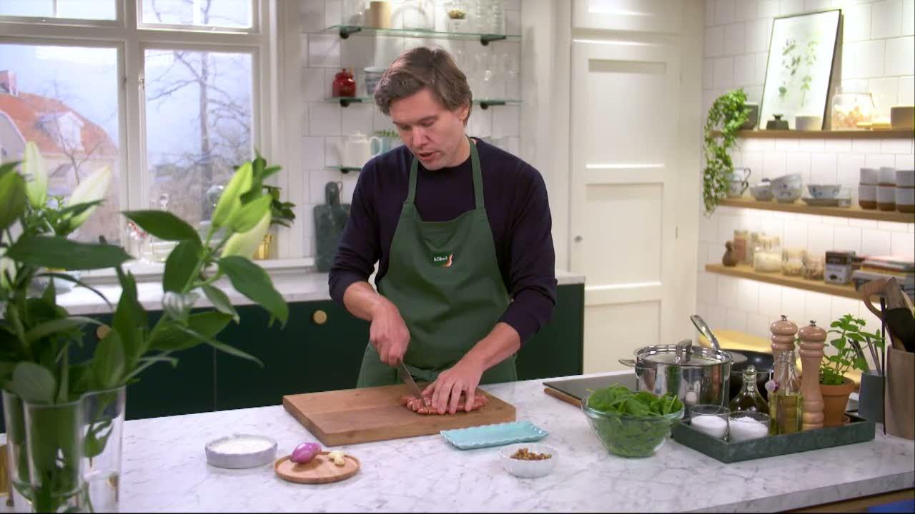 Kökets middag: Merguez med kryddris och spenat