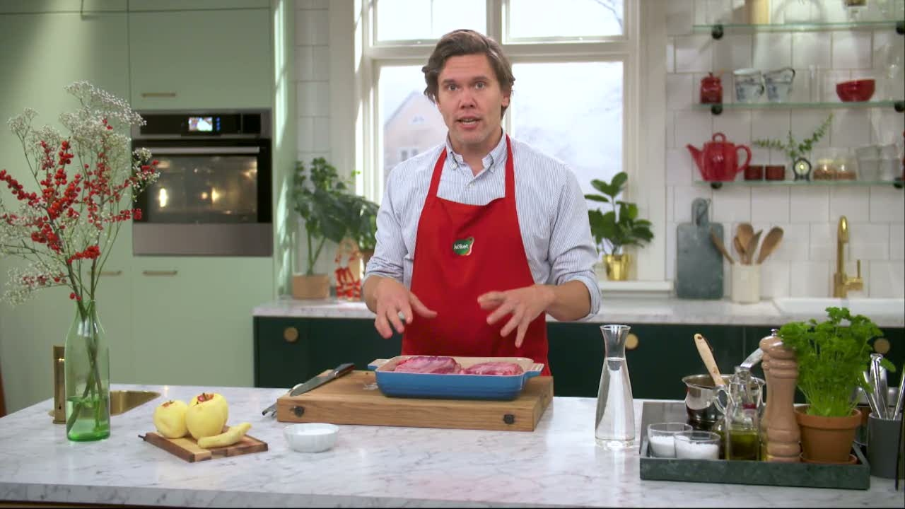 Kökets middag: Revbensspjäll med äppelmos