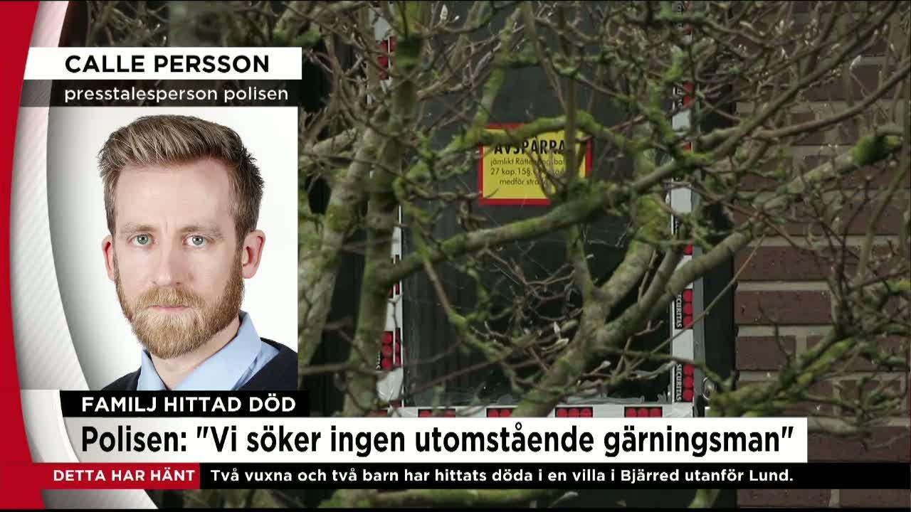 """Polisen om tragedin i Bjärred: """"Vi har en bra bild av vad som hänt"""" -  Nyheterna - tv4.se"""