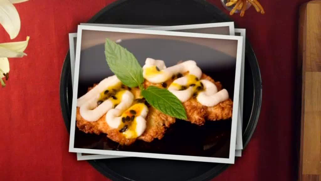 Efterrätt: Kokoskaka med färskostglasyr