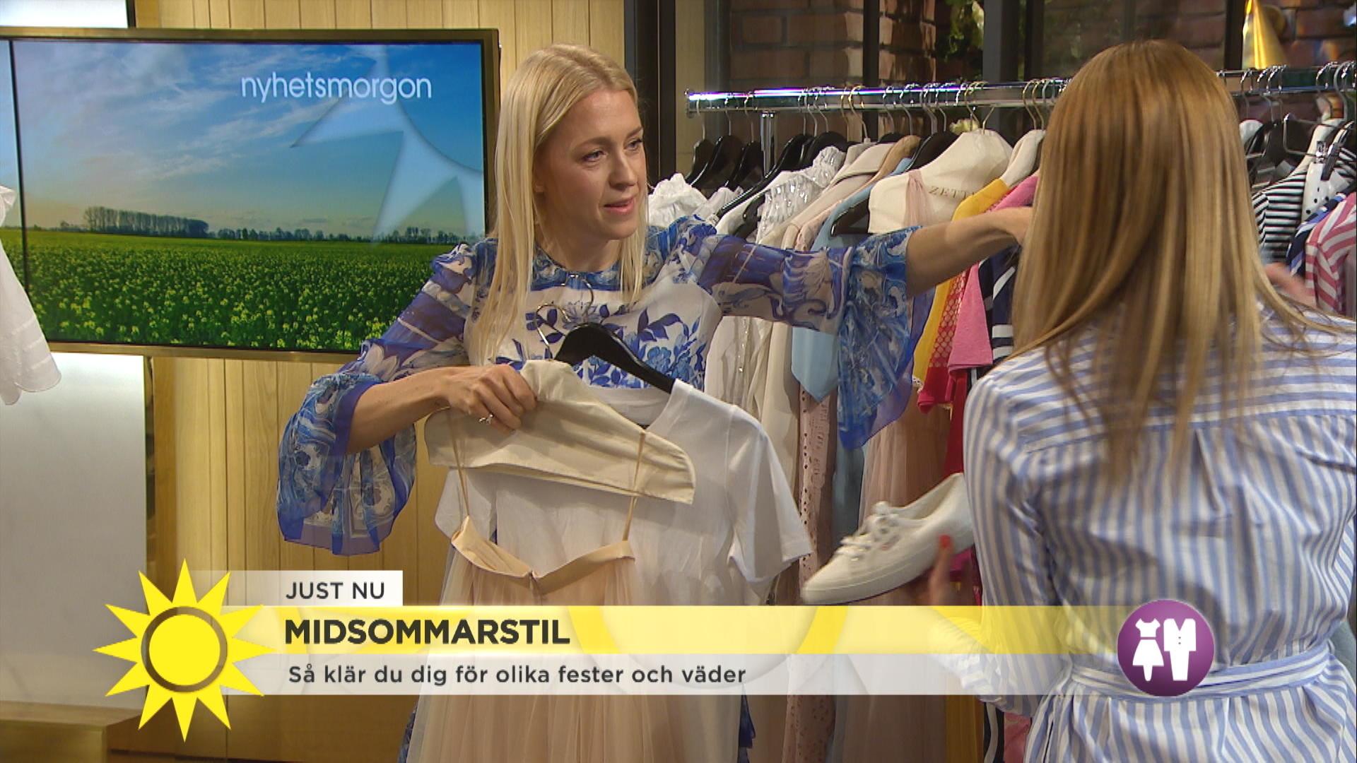2de74883a976 Klä upp dig till midsommar – Emilia de Poret visar festfina klänningar -  Nyhetsmorgon - tv4.se