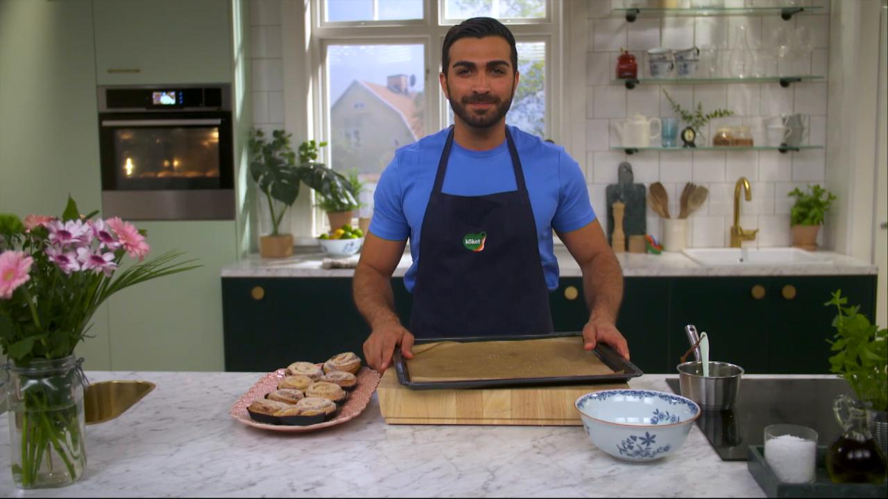 Kökets baktips: Karlsbaderbullar med jordgubb, mandel och vanilj