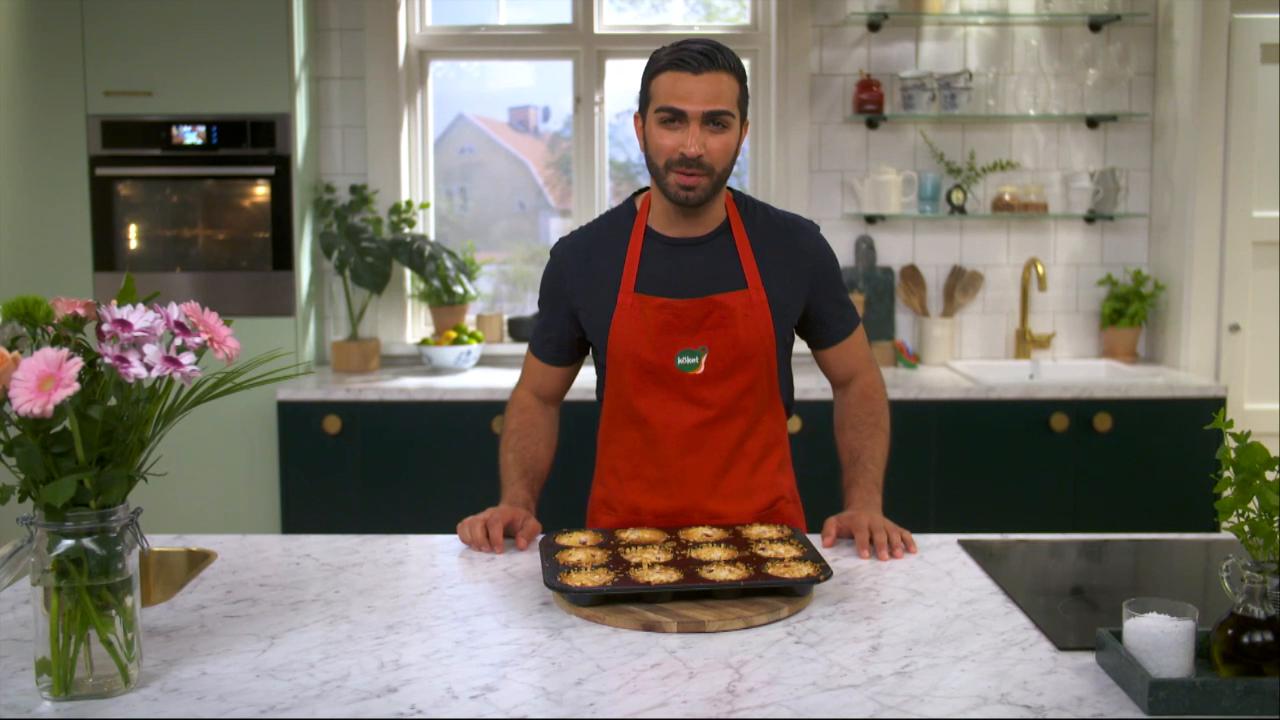 Kökets baktips: Snabba kakor med mandel och hallon