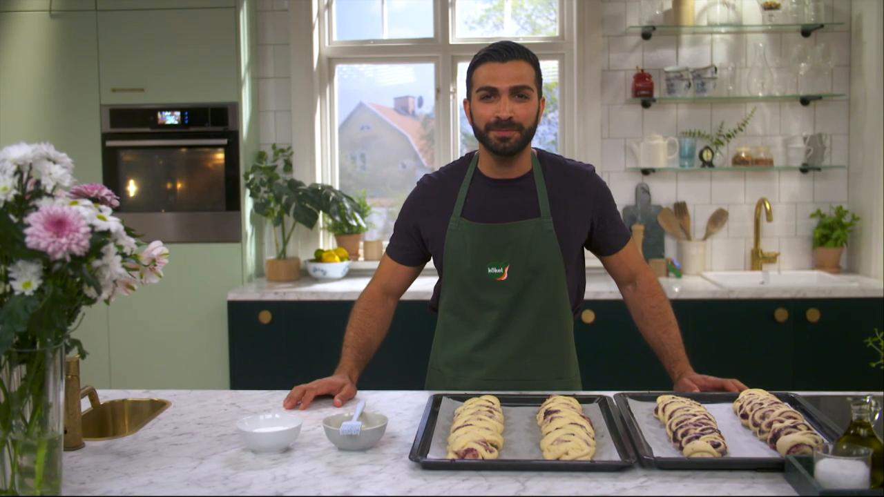 Kökets baktips: Blåbärslängd med vaniljkräm