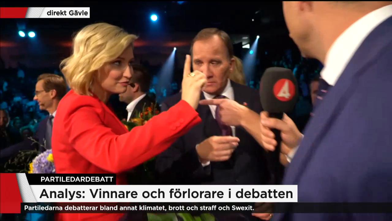 Partiledardebatt vinnare