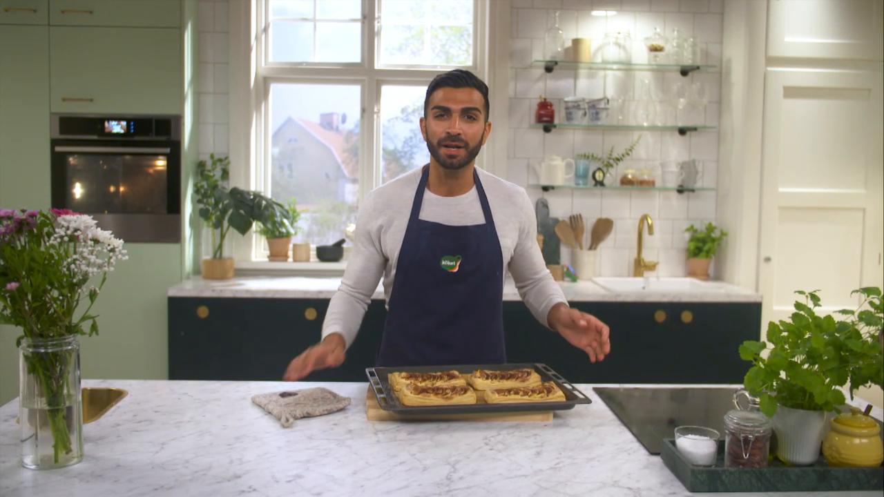Kökets baktips: Frasig smördegsbakelse med äpple och mandel