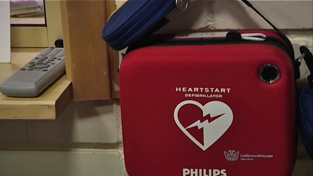 Har hittar du defibrillatorer