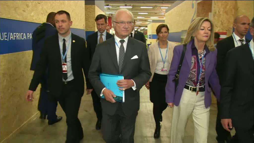 """Kungen på plats för klimatkonferensen: """"Mycket viktigt"""" - tv4.se"""