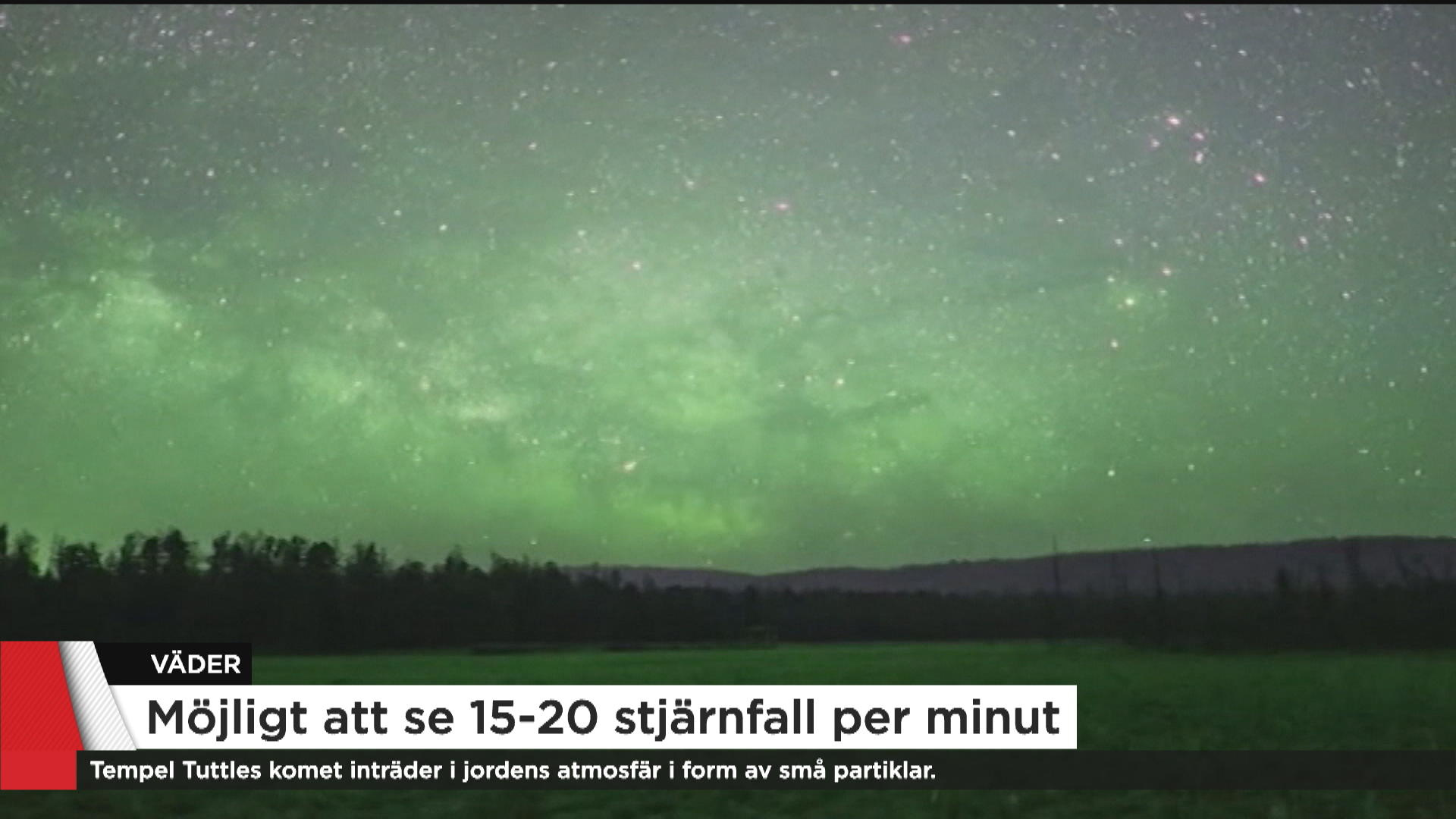 Passerar meteorregn jorden se det