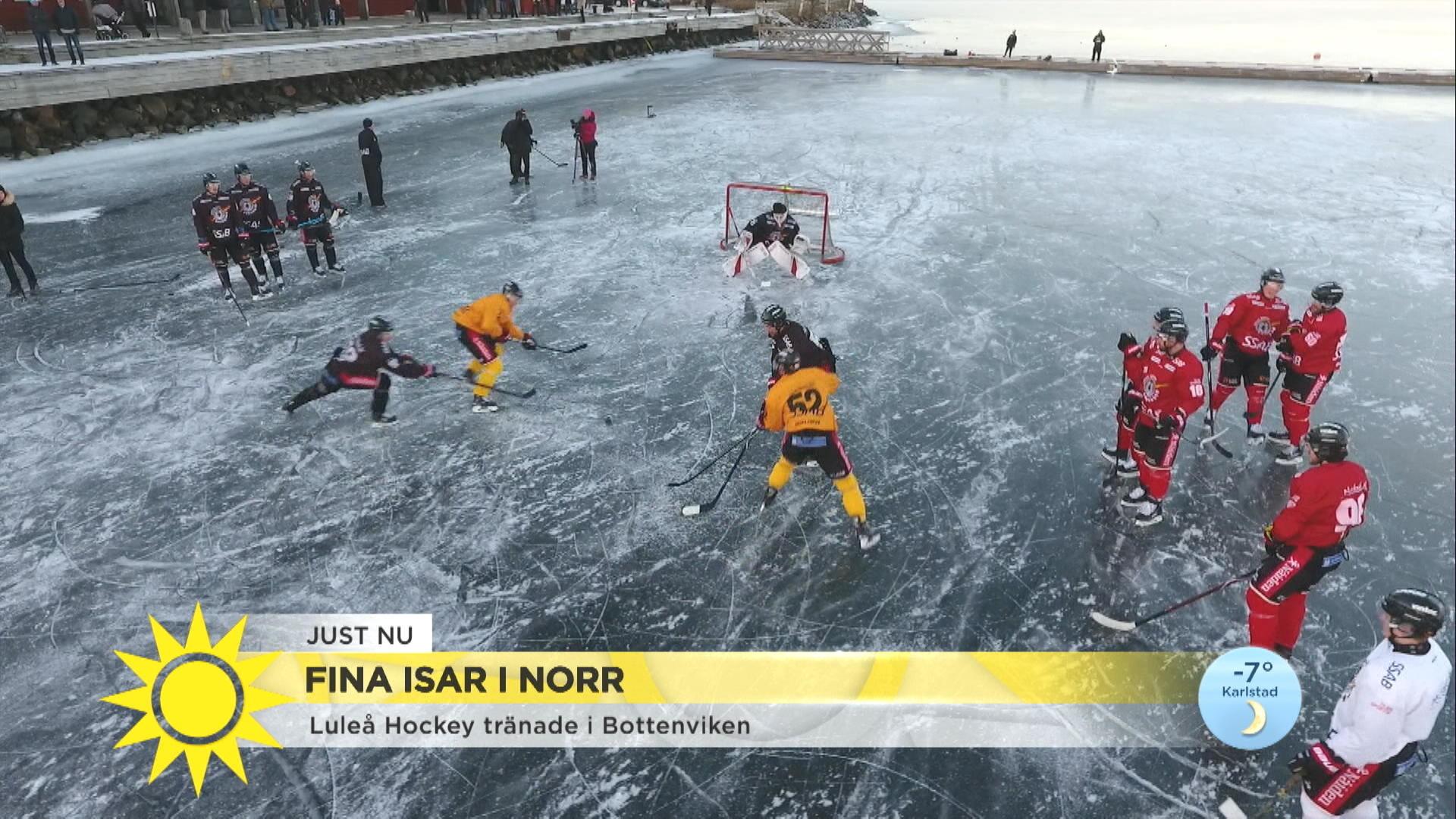 839f8c859759 Luleå Hockey tränade utomhus på naturis: