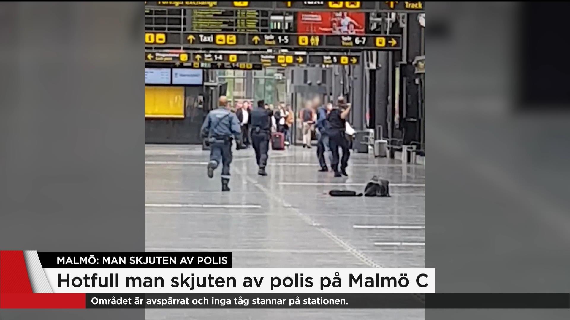 Har Jagar Polisen Hotfulle Mannen Pa Malmo Central Nyheterna Tv4 Se