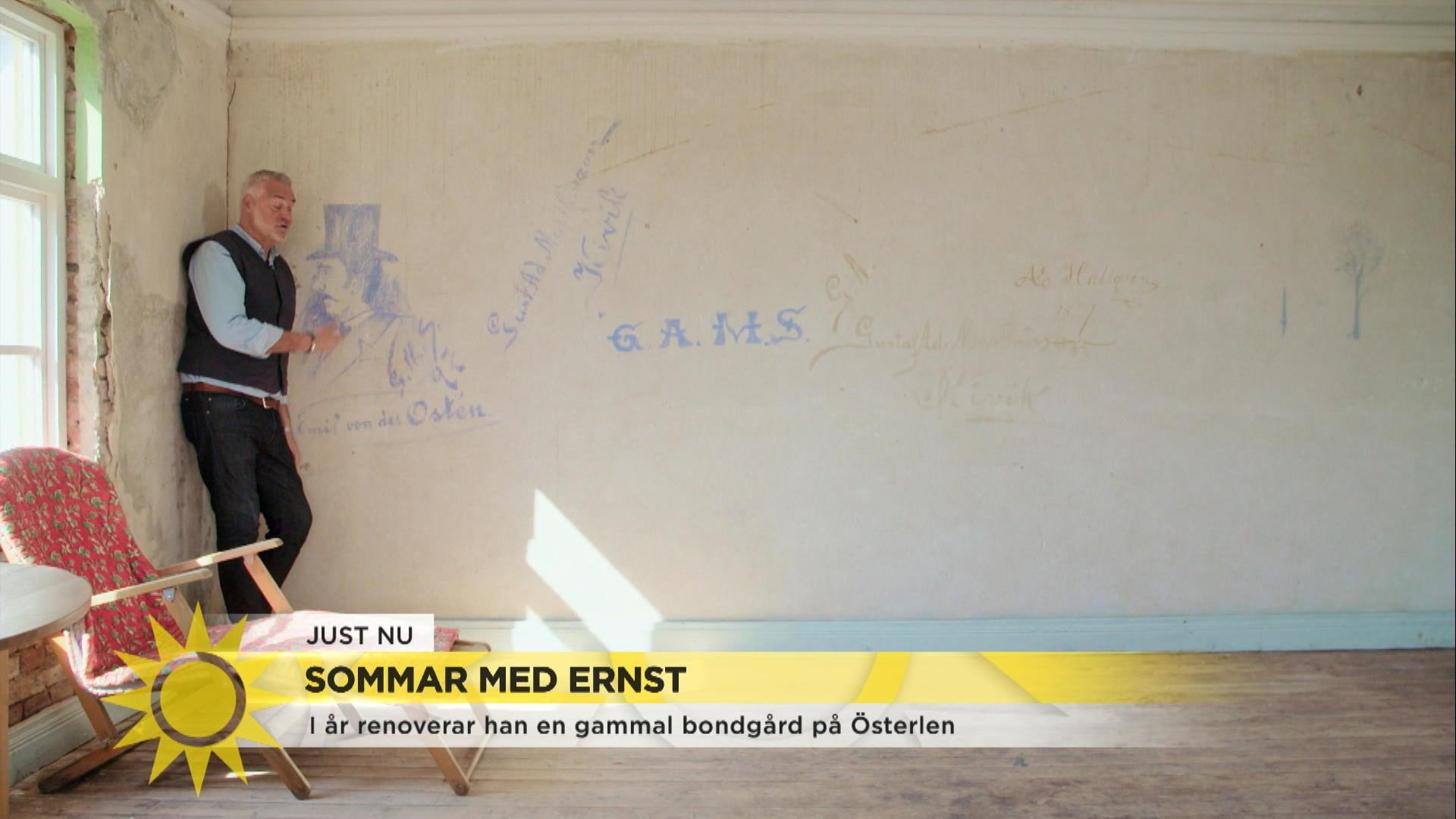 """Sommar med Ernst: """"Man måste fråga huset om lov först"""""""