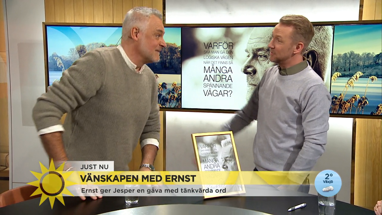 """Ernst kärleksförklaring till vännen Jesper: """"Jag kommer att vara den där kardborren på dina byxor"""""""