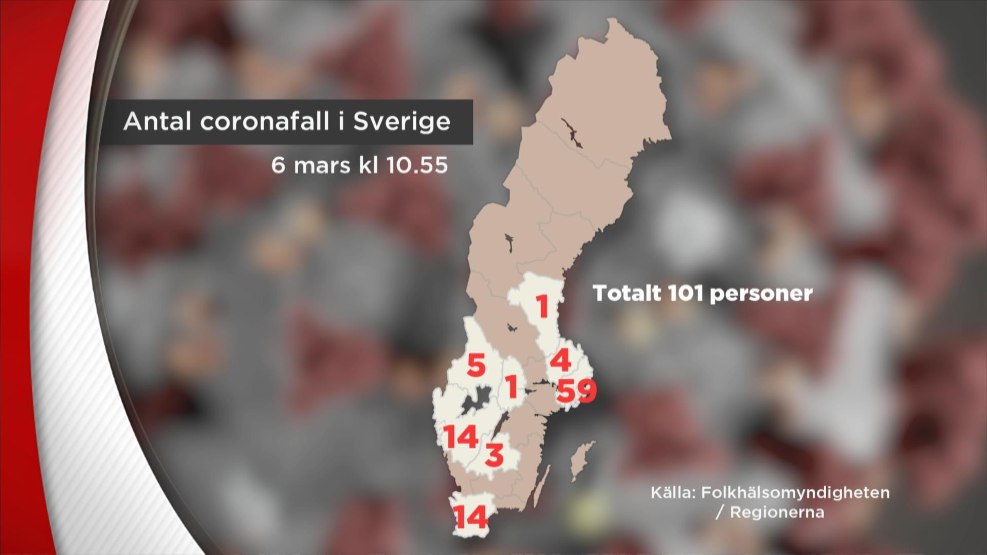 Nyheterna Pa Tv4 Play Over 100 Coronasmittade I Sverige