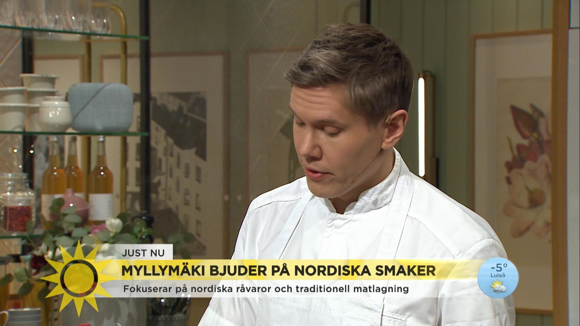Tommy Myllymäki bjuder på rätter från sin nya restaurang