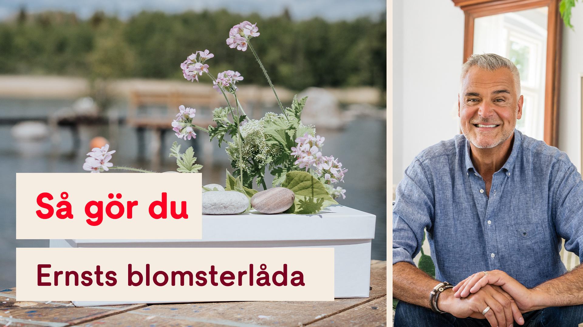 Så gör du Ernst fina blomsterlåda och pappservaser