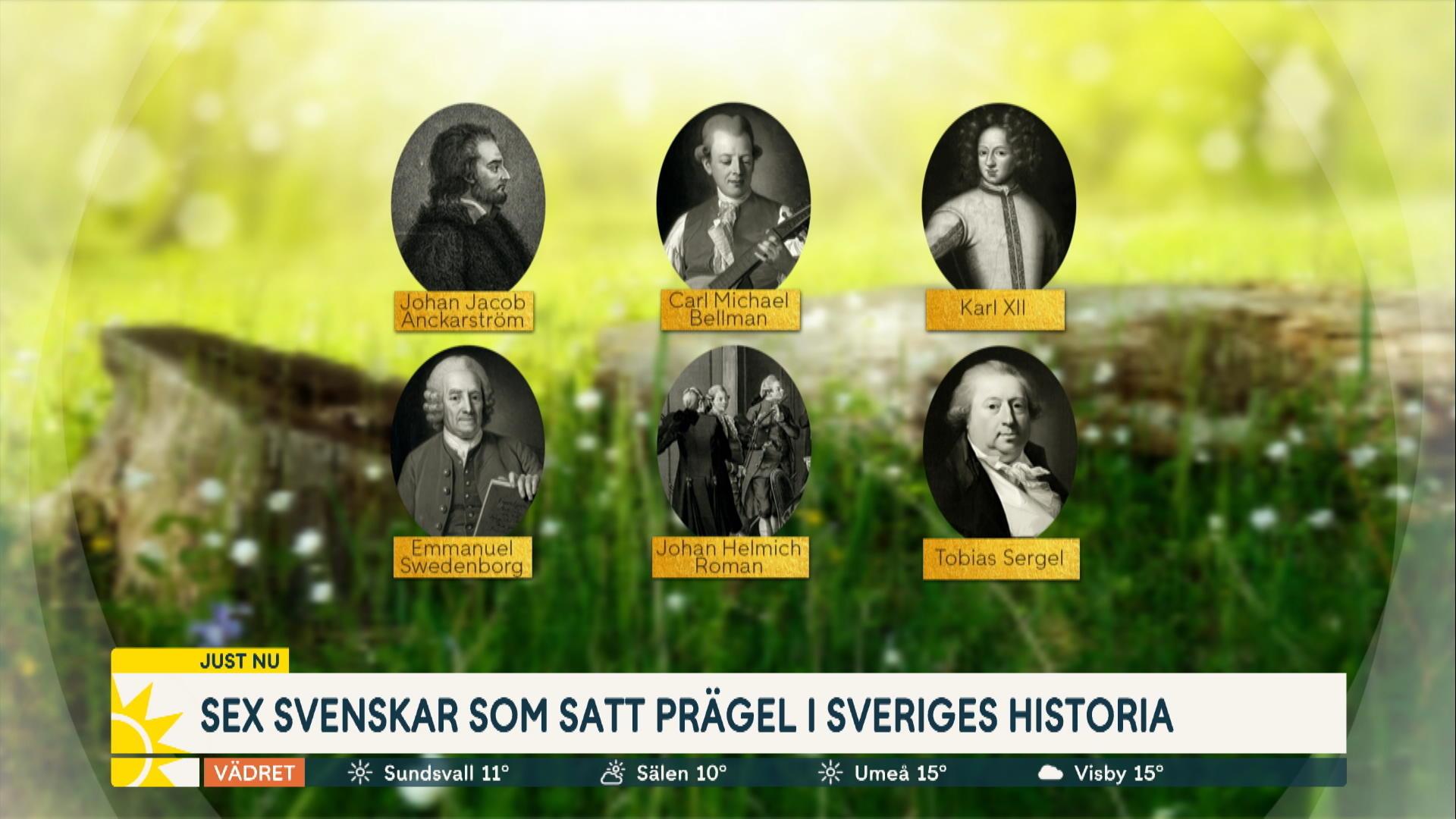 Sex svenskar som satt prägel på Sveriges historia