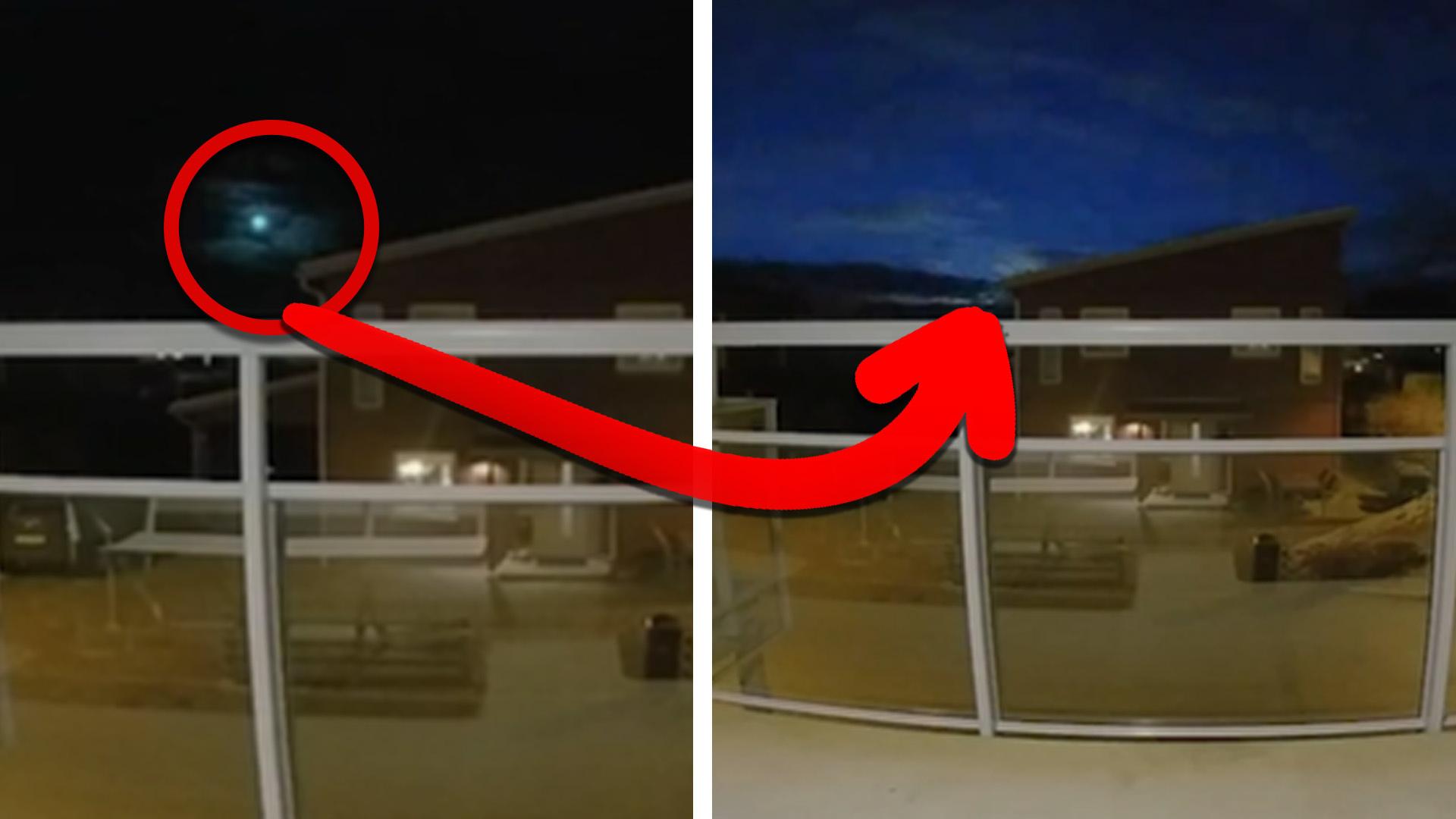 """Tommys kamera fångade ljusfenomenet – experten: """"Visar tydligt att det är en bolid"""""""