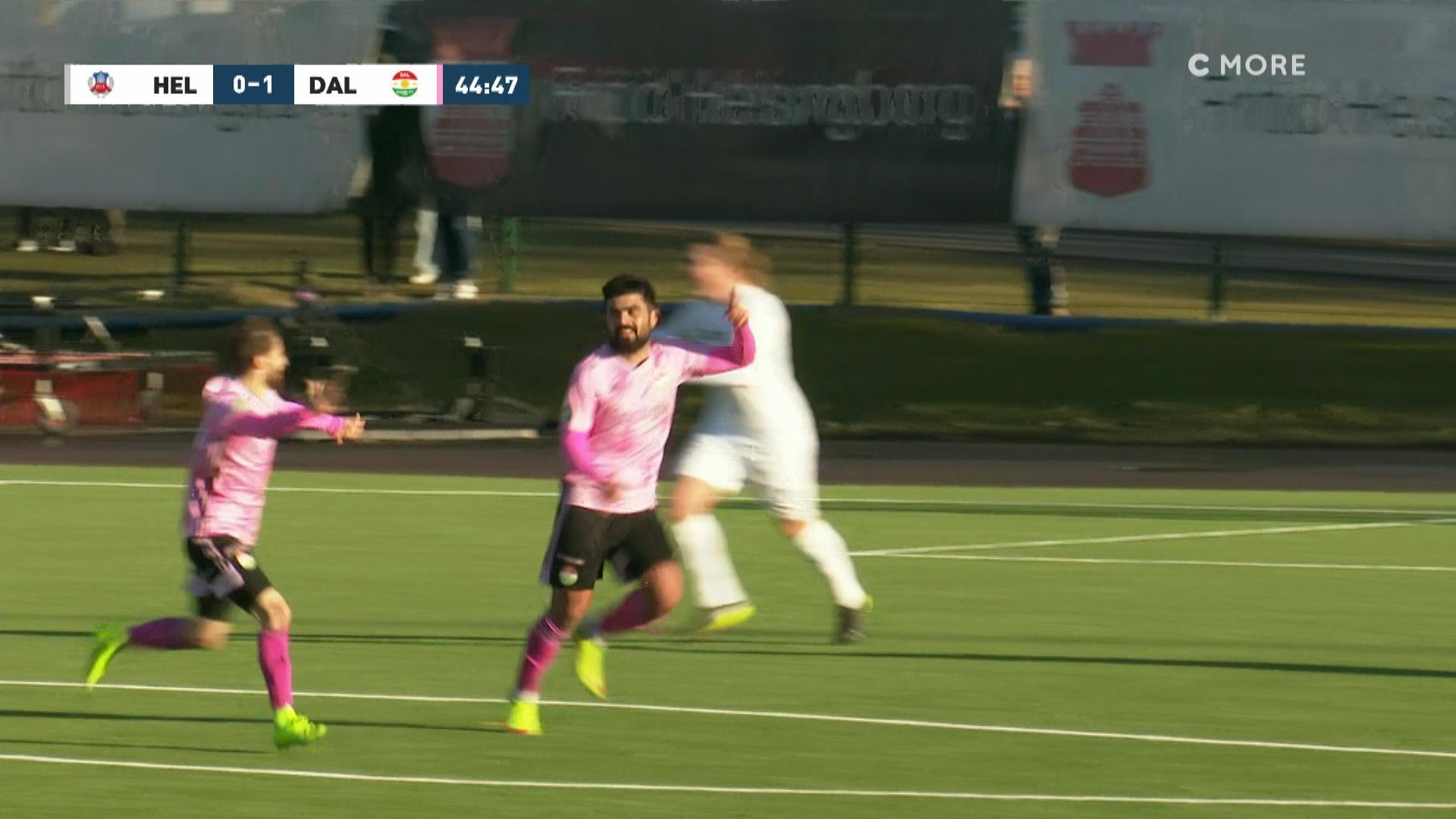 Dråpligt försvarsspel när Dalkurd utökar mot Helsingborg