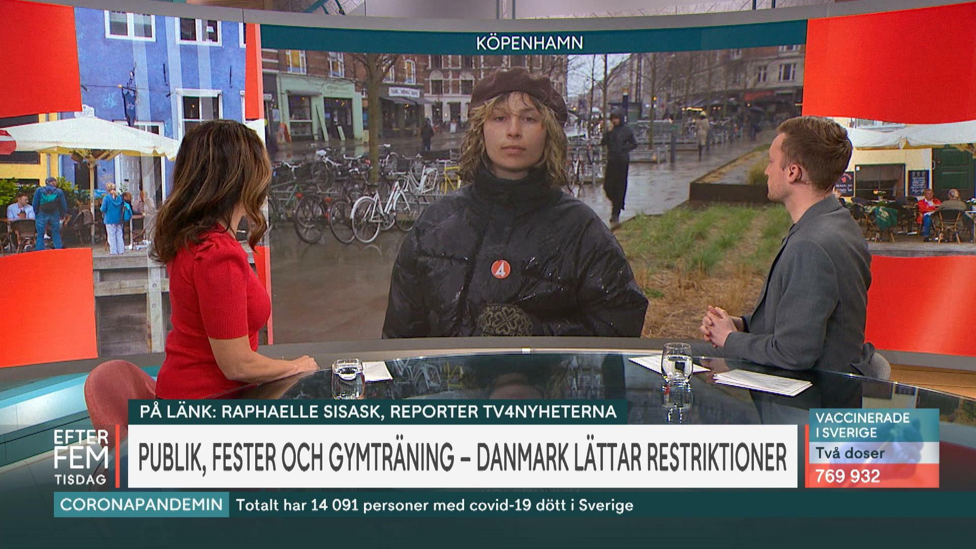 """Danmark öppnar – trots att färre är vaccinerade än i Sverige """"Smittan är under kontroll"""""""