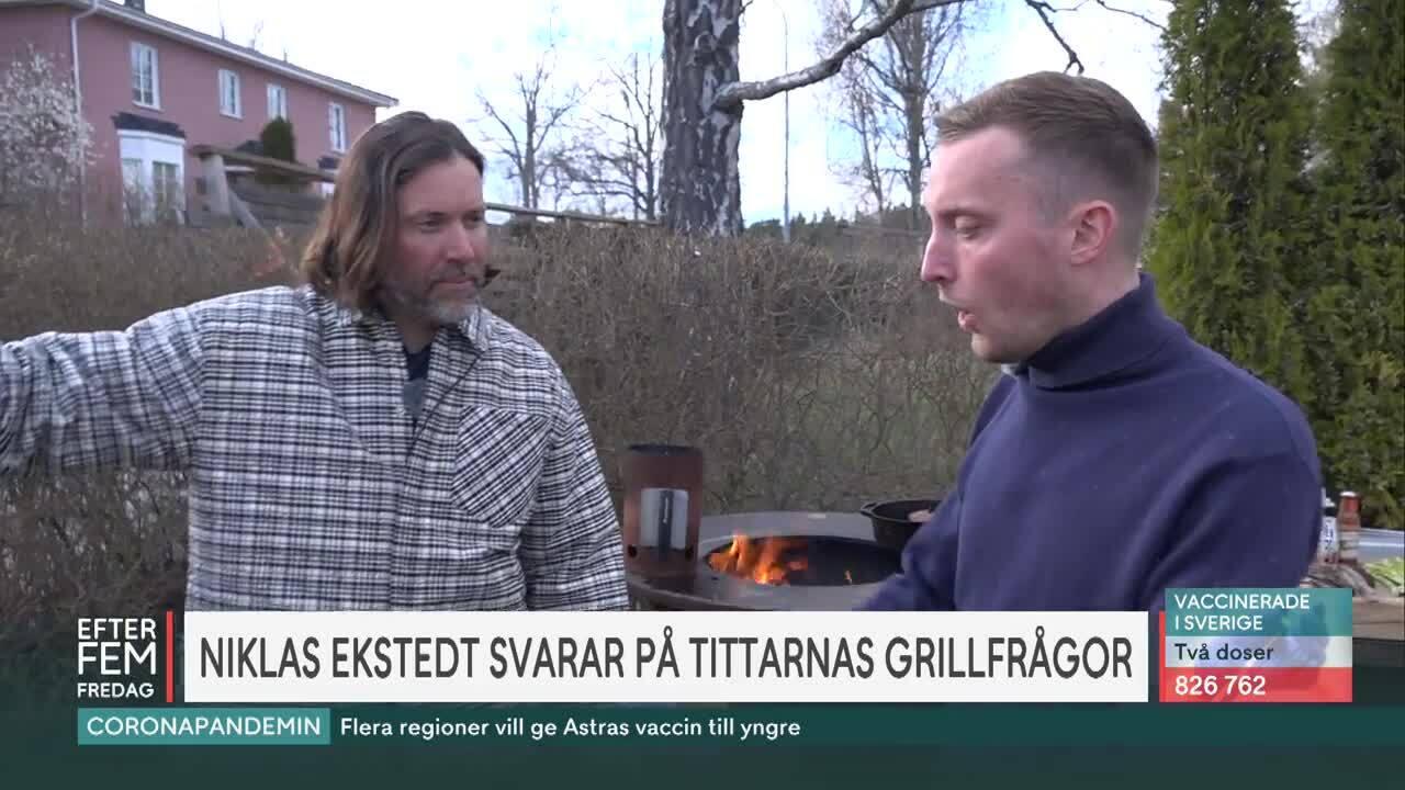 """Niklas Ekstedts bästa grilltips på Grillens dag: """"Ruskigt gott"""""""