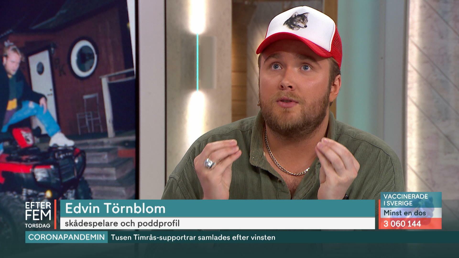"""Succépoddaren Edvin Törnblom om risken att bränna ut sig: """"Gäller att känna igen signalerna"""""""