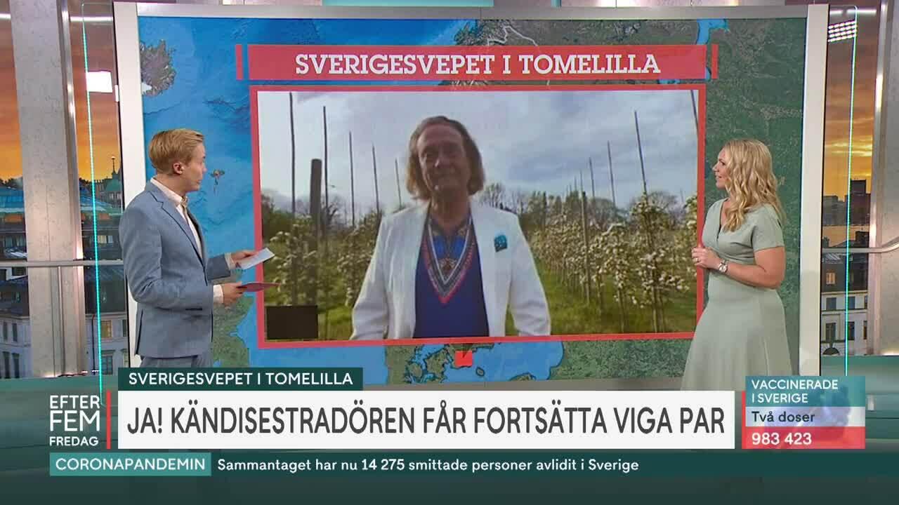 """""""Hurra för kärleken"""" – Björn Ranelid får fortsätta vara vigselförrättare"""