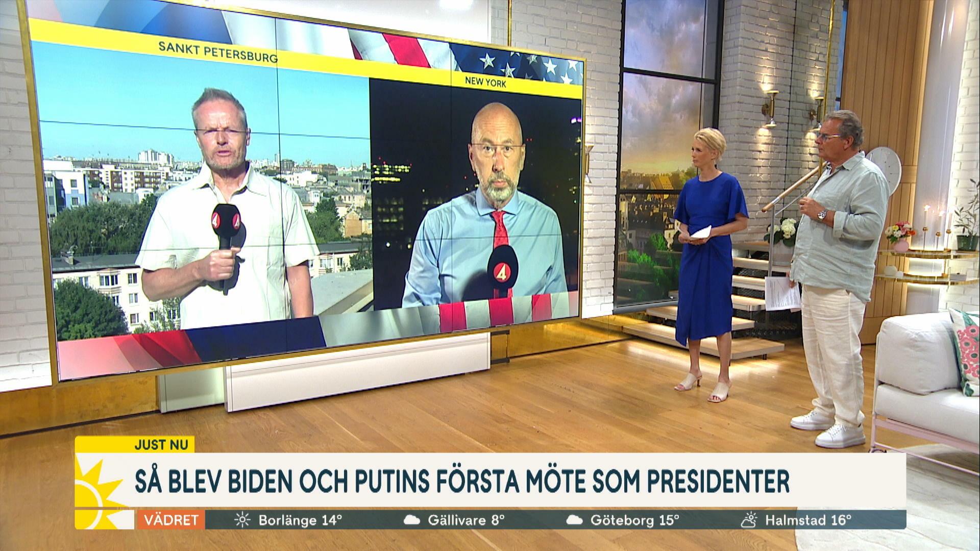 """Så blev Biden och Putins möte: """"Låga förväntningar - höjde stämningen"""""""