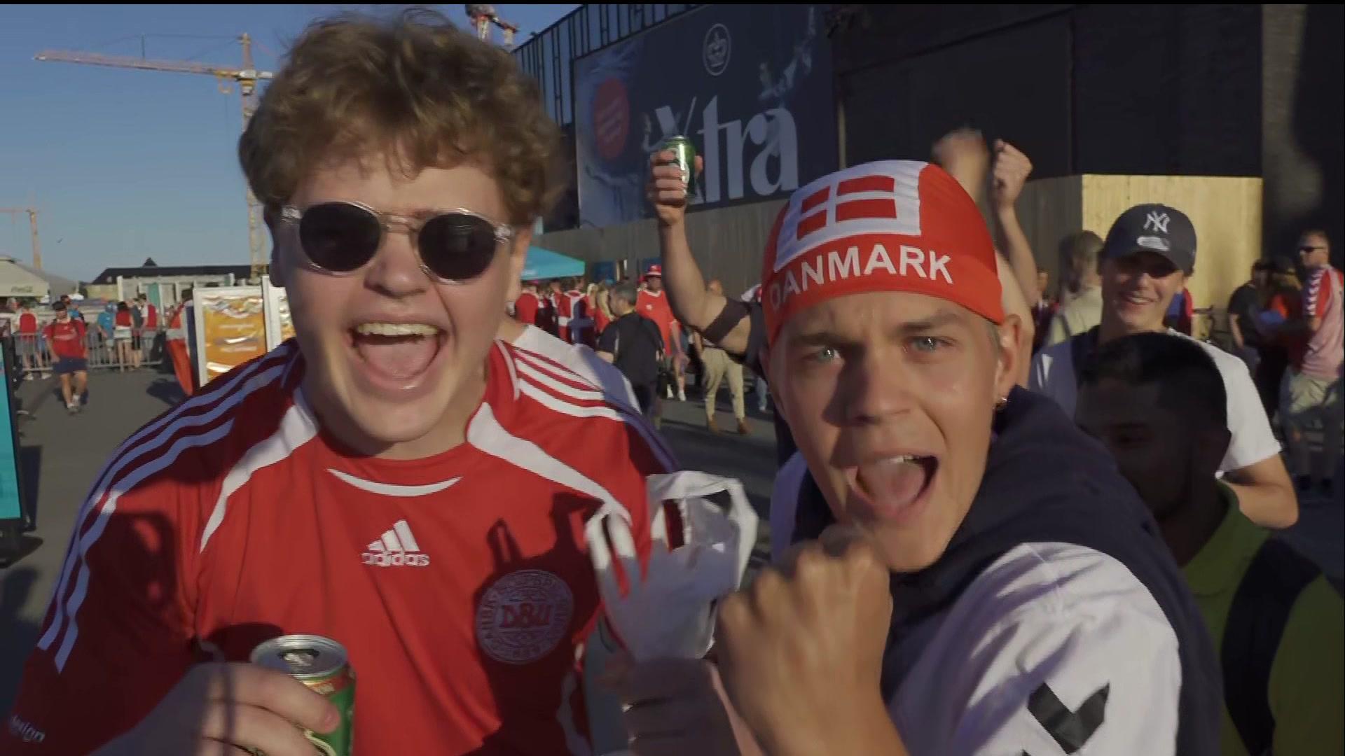 Så är stämningen i Danmark inför EM-mötet mot England