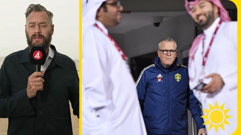 """Kritik mot landslagets läger i Qatar: """"Svenskt hyckleri"""""""