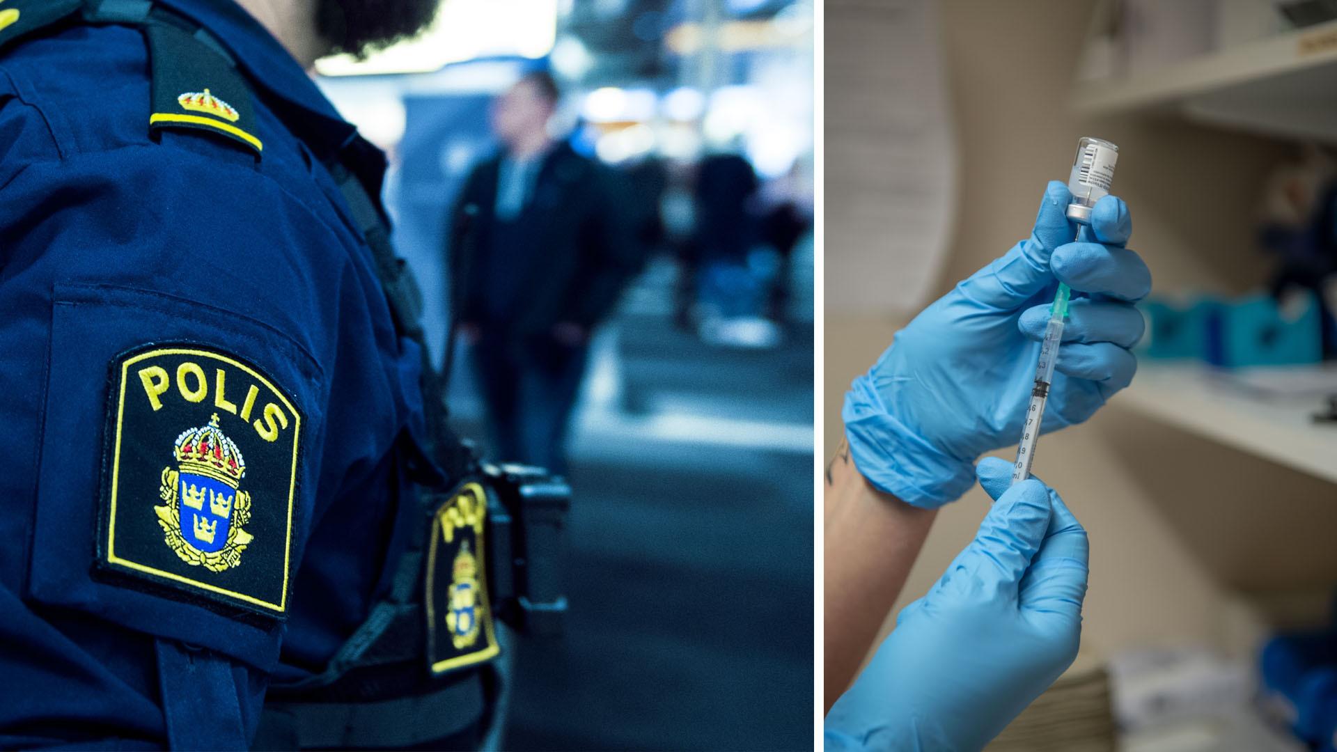 Polis visade polislegitimation för att få Pfizer-vaccin