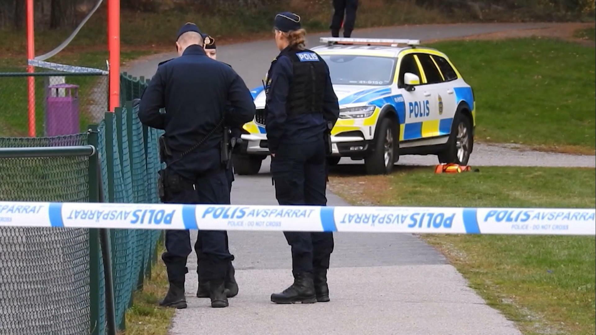Barn blev vittnen till skjutning nära skola i Eskilstuna