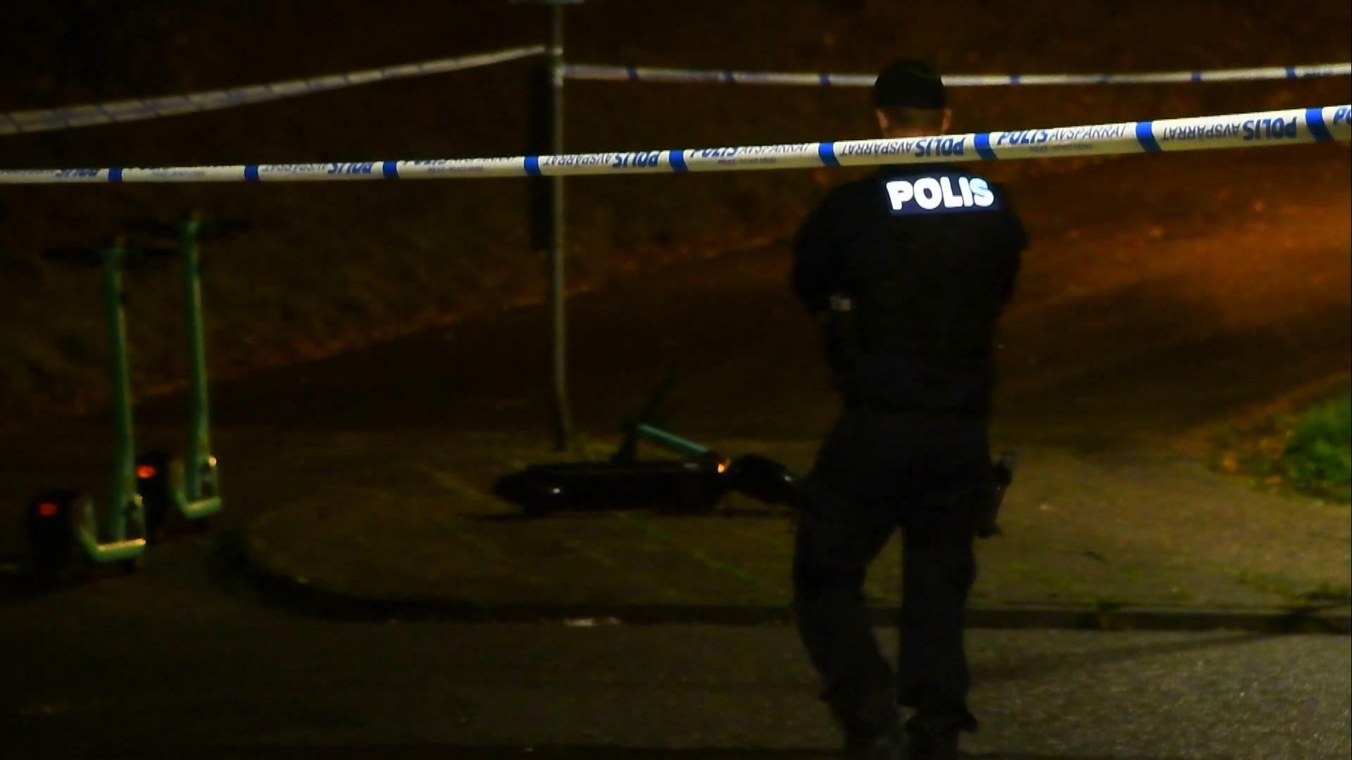 En person anhållen i sin frånvaro efter skottlossning i Helsingborg